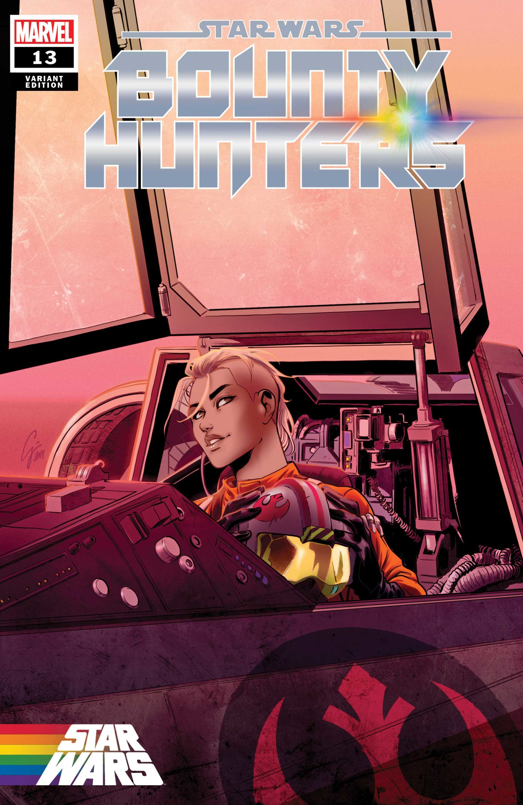 """Bounty Hunters #13 (Jacopo Camagni """"Yrica Quell"""" Pride Variant Cover) (09.06.2021)"""