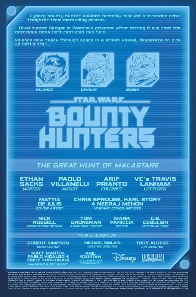 Bounty Hunters #11 Vorschauseite 1