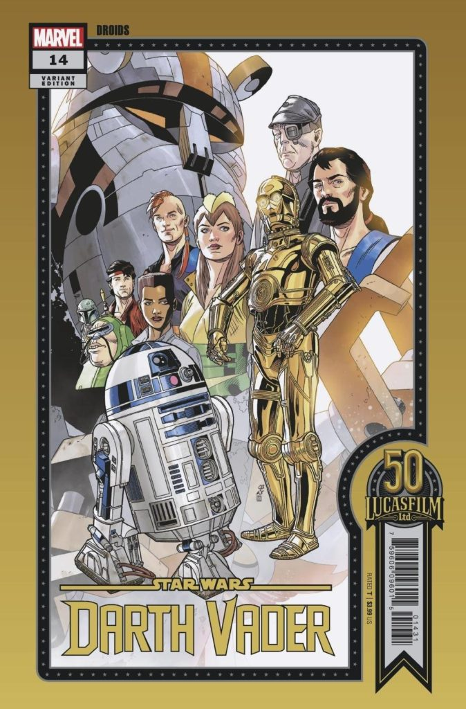"""Darth Vader #14 (Chris Sprouse """"Droids"""" Lucasfilm 50th Anniversary Variant Cover) (21.07.2021)"""
