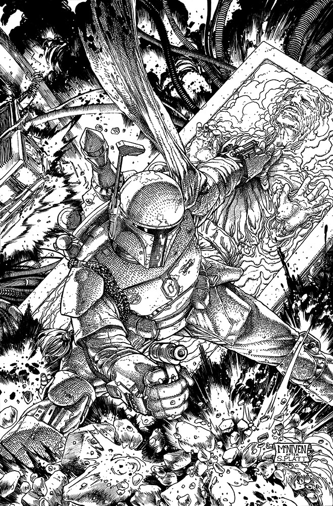 War of the Bounty Hunters Alpha #1 Skizze 2