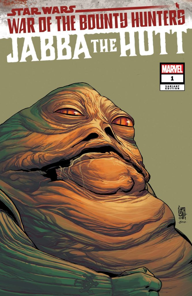 War of the Bounty Hunters: Jabba the Hutt #1 (Giuseppe Camuncoli Headshot Variant Cover) (21.07.2021)