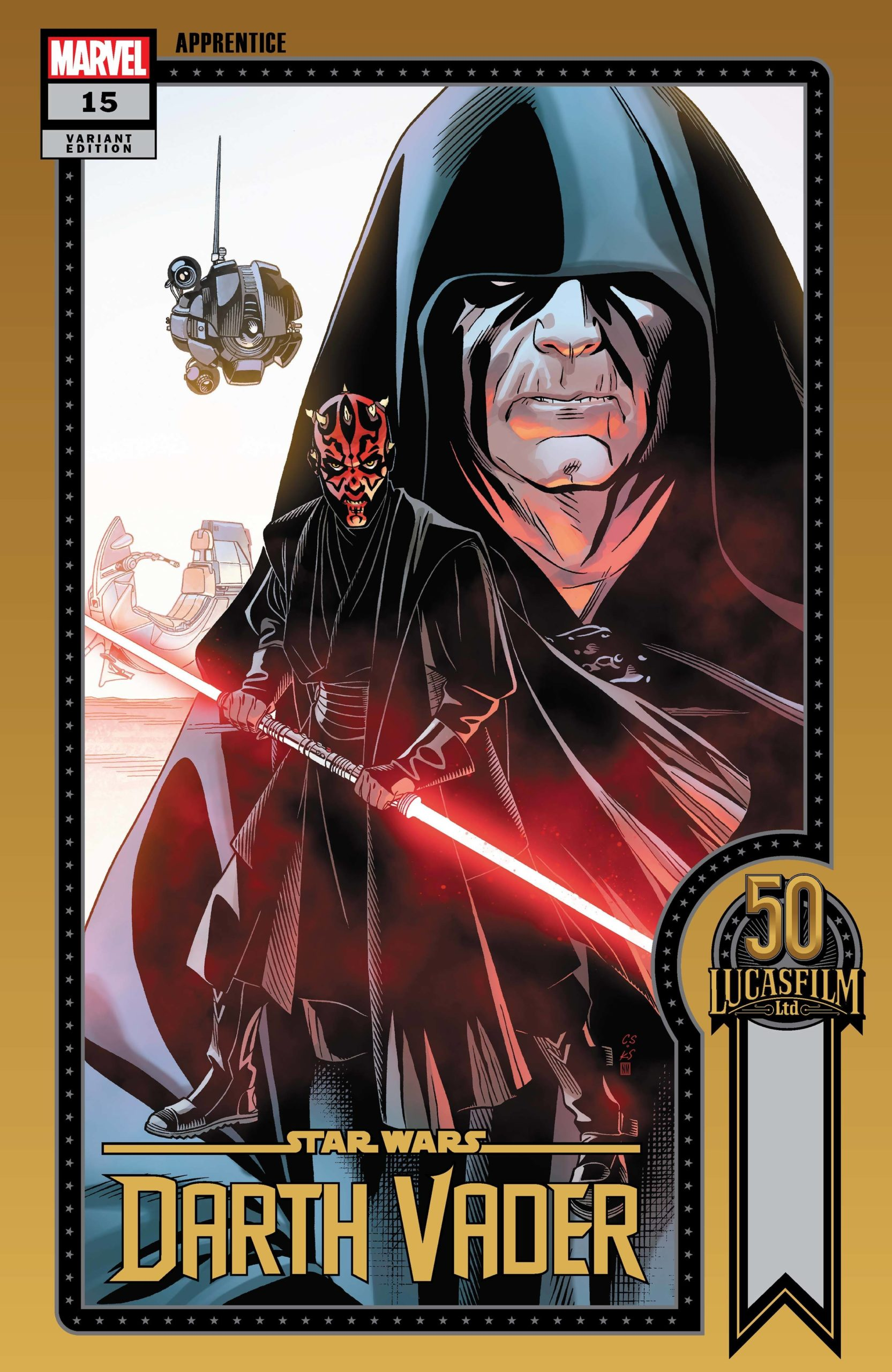 Darth Vader #15 (Chris Sprouse Lucasfilm 50th Anniversary Variant Cover) (25.08.2021)