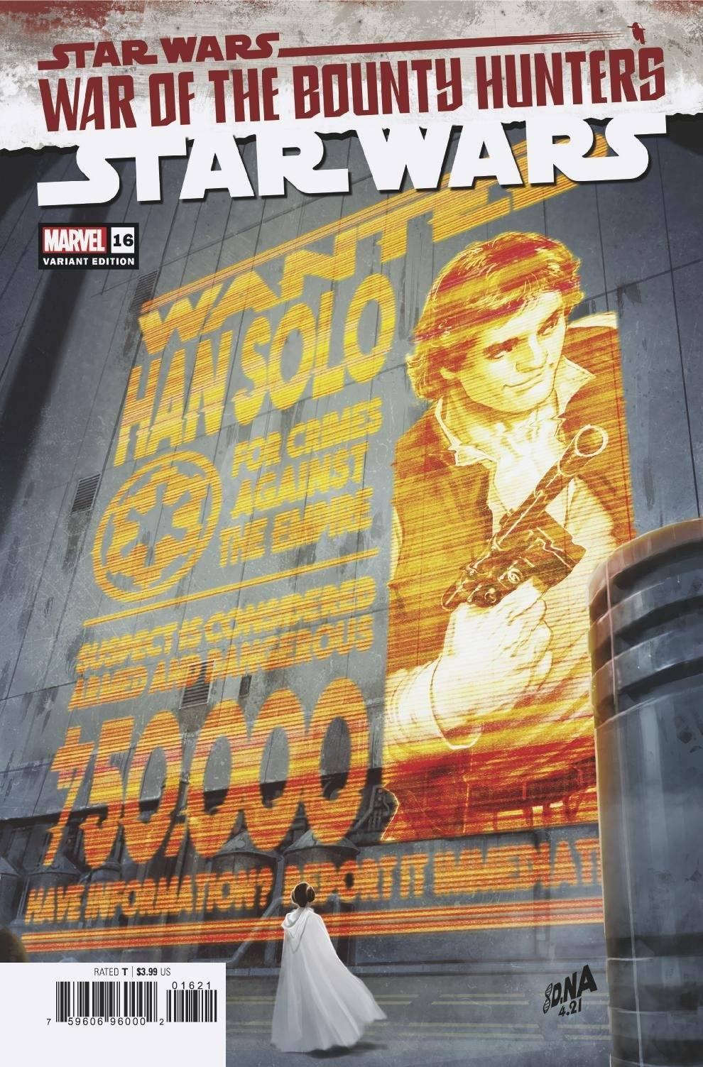 Star Wars #16 (David Nakayama Wanted Poster Variant Cover) (18.08.2021)