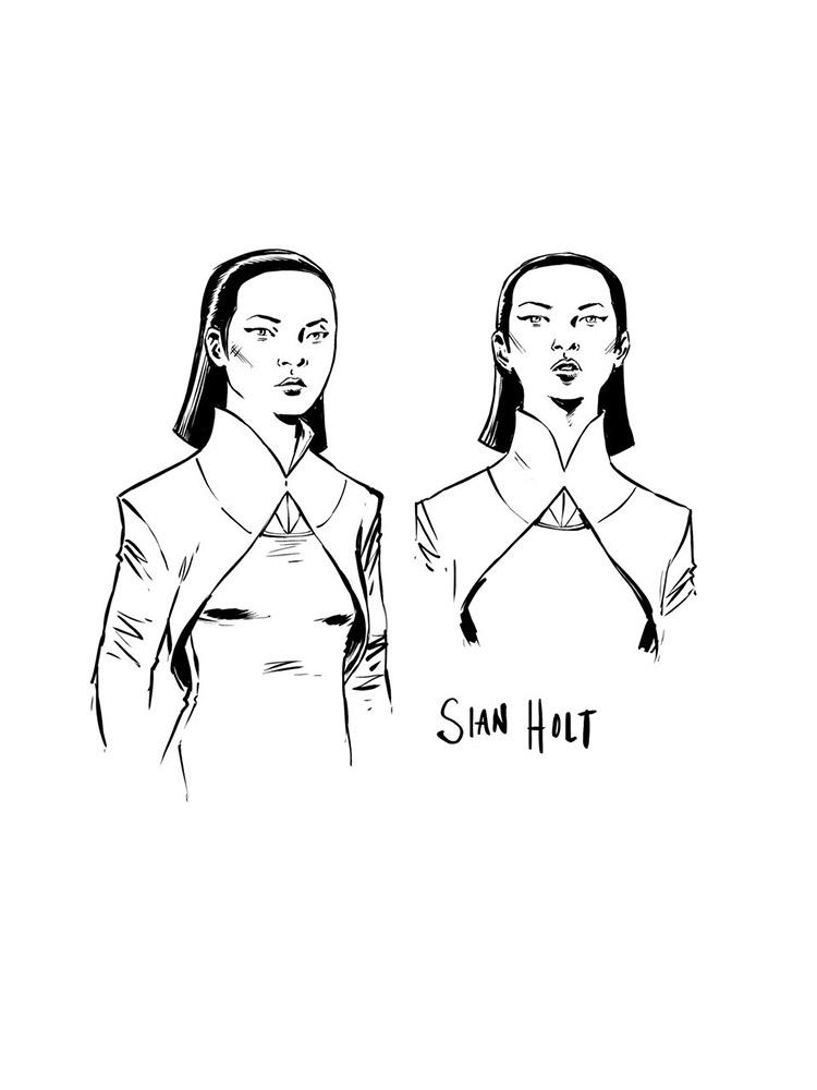 <em>The High Republic: Trail of Shadows</em> Konzeptzeichnung Sian Holt