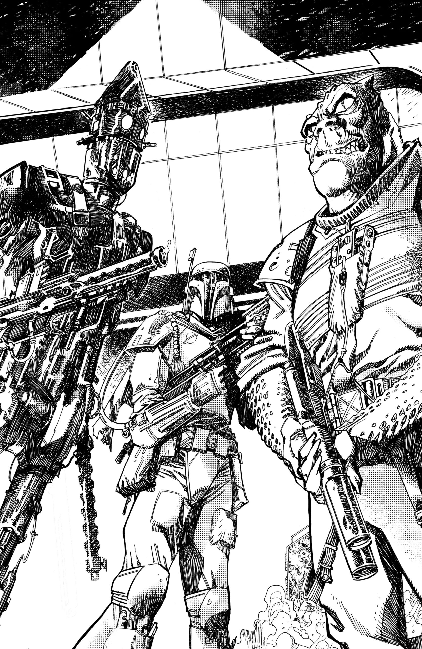 War of the Bounty Hunters #1 (John McCrea Ultimate Comics Black & White Virgin Variant Cover) (02.06.2021)