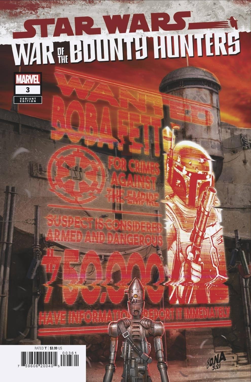 War of the Bounty Hunters #3 (David Nakayama Wanted Poster Variant Cover) (11.08.2021)