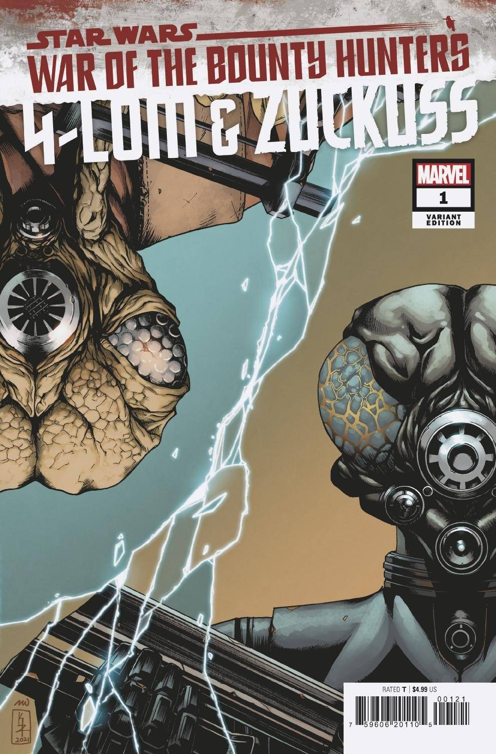War of the Bounty Hunters: 4-LOM & Zuckuss #1 (Kei Zama Variant Cover) (04.08.2021)
