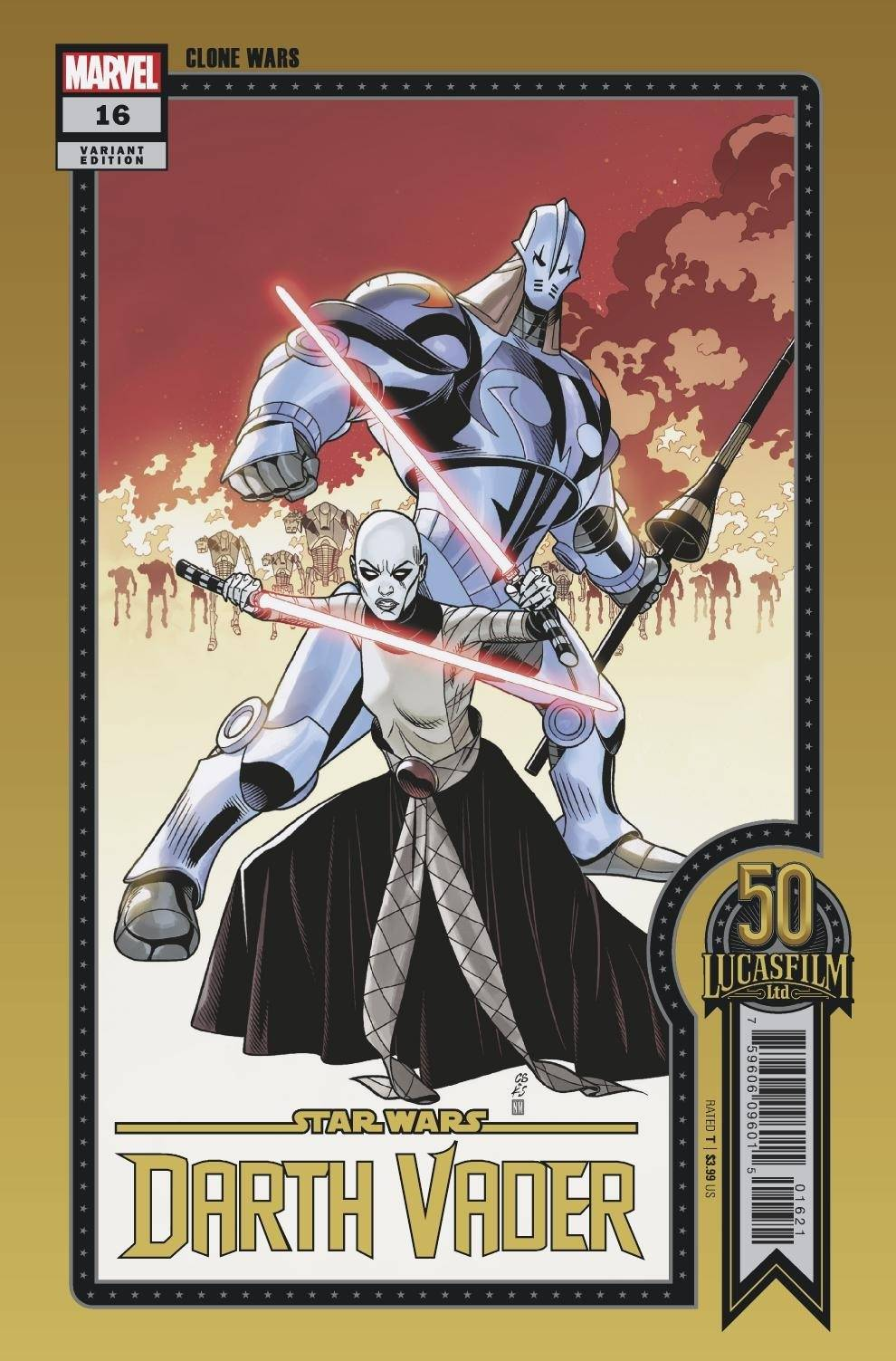 """Darth Vader #16 (Chris Sprouse """"Clone Wars"""" Lucasfilm 50th Anniversary Variant Cover) (15.09.2021)"""