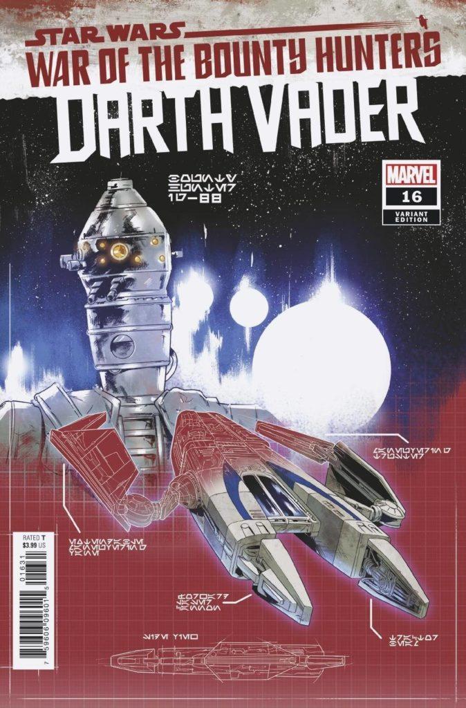 Darth Vader #16 (Paolo Villanelli Bounty Hunter Ship Blueprint Variant Cover) (15.09.2021)