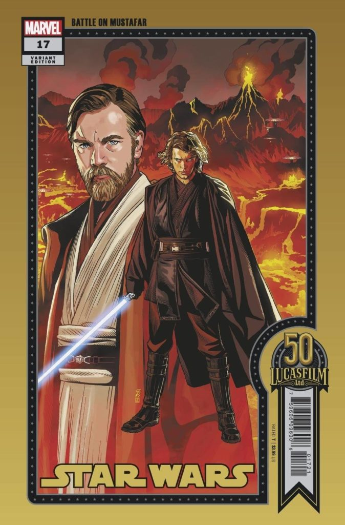 """Star Wars #17 (Chris Sprouse """"Battle on Mustafar"""" Lucasfilm 50th Anniversary Variant Cover) (29.09.2021)"""