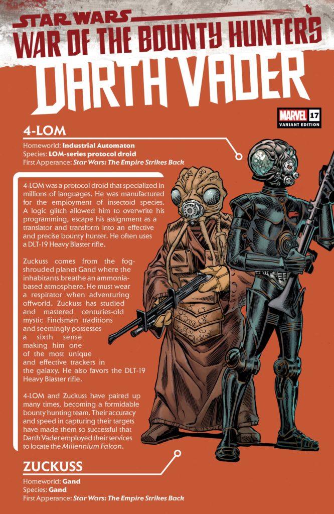 Darth Vader #17 (Ron Frenz Bounty Hunter Handbook Variant Cover) (20.10.2021)