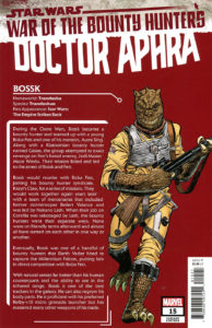 Doctor Aphra #15 (Ron Frenz Bounty Hunter Handbook Variant Cover) (13.10.2021)