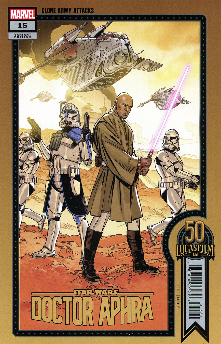 Doctor Aphra #15 (Chris Sprouse Lucasfilm 50th Anniversary Variant Cover) (13.10.2021)