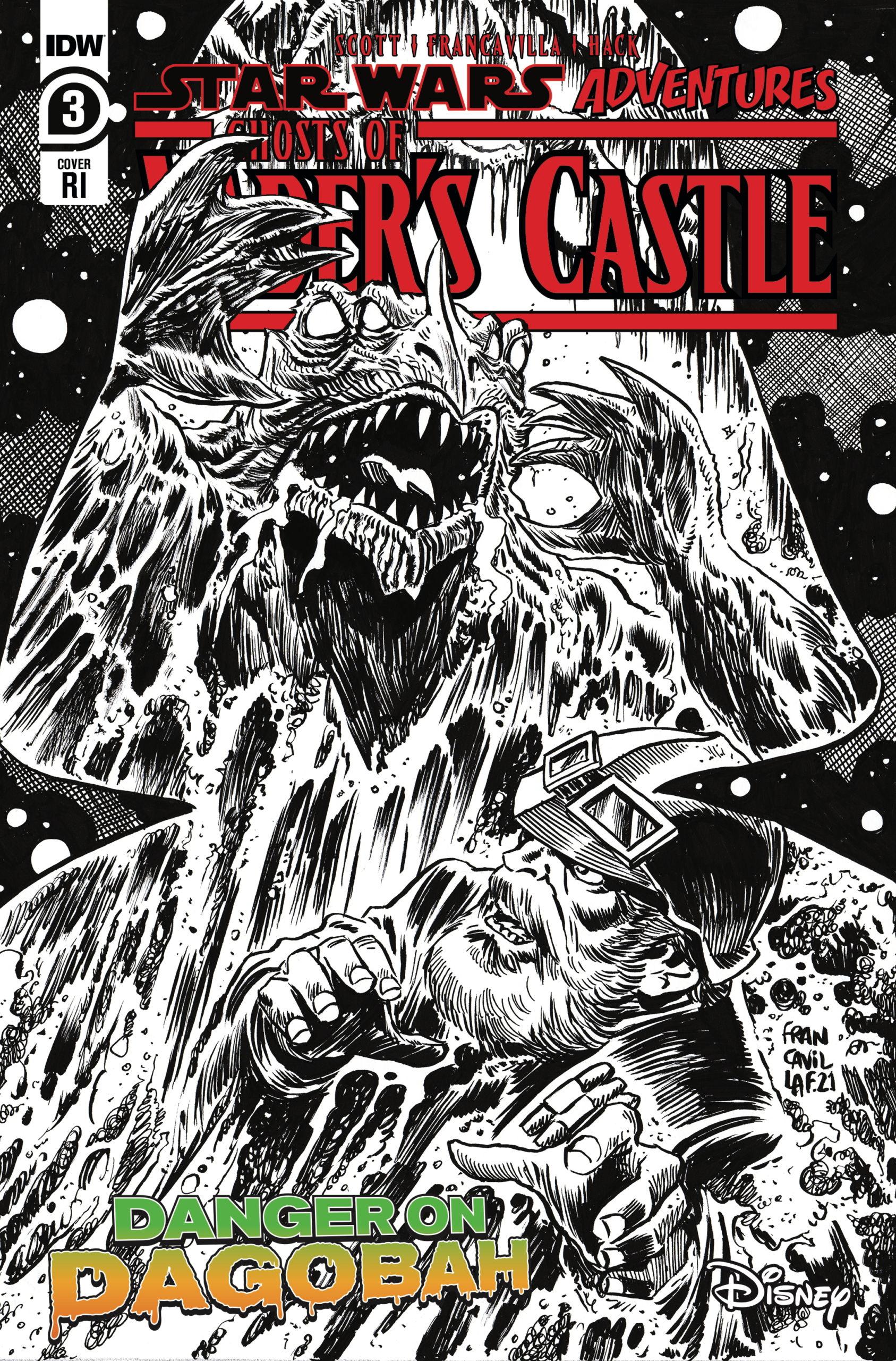 Ghosts of Vader's Castle #3 (Francesco Francavilla Black & White Variant Cover) (06.10.2021)