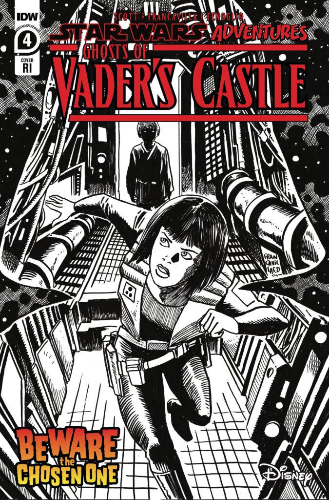 Ghosts of Vader's Castle #4 (Francesco Francavilla Black & White Variant Cover) (13.10.2021)