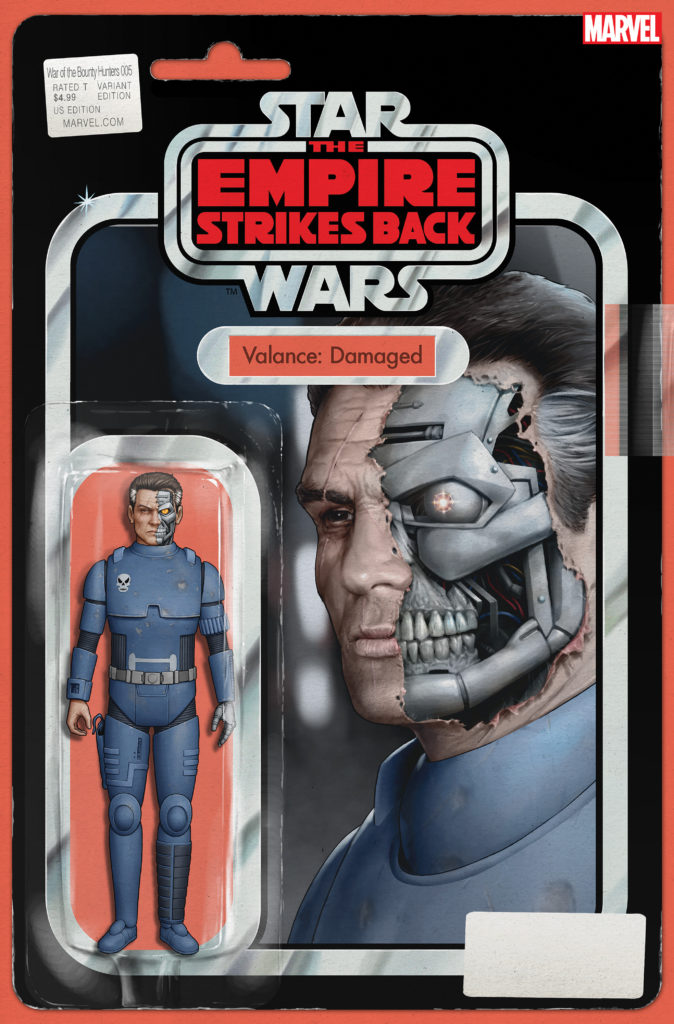 """War of the Bounty Hunters #5 (""""Valance: Damaged"""" Action Figure Variant Cover) (06.10.2021)"""