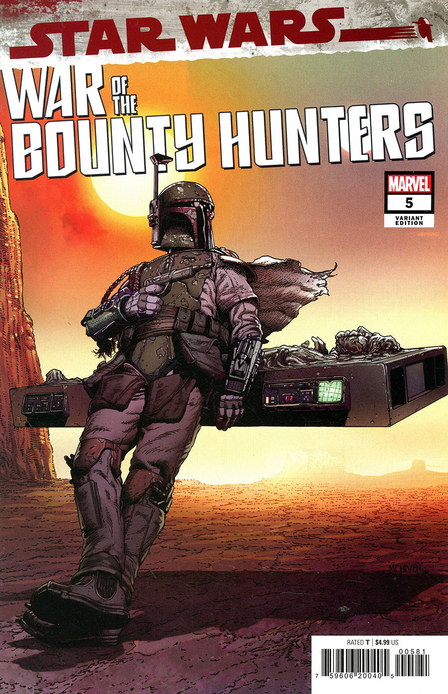 """War of the Bounty Hunters #5 (Steve McNiven """"Boba Always Gets His Bounty"""" Variant Cover) (06.10.2021)"""