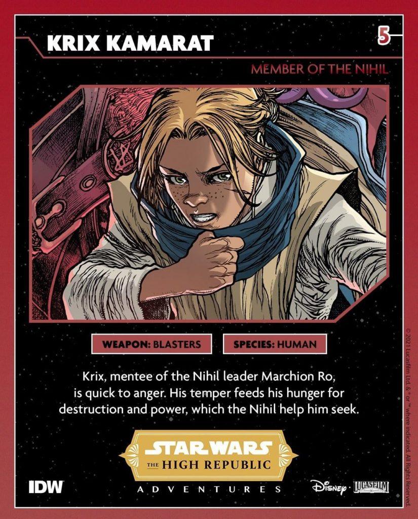 <em>The High Republic Adventures</em> digitale Sammelkarten Krix Kamarat