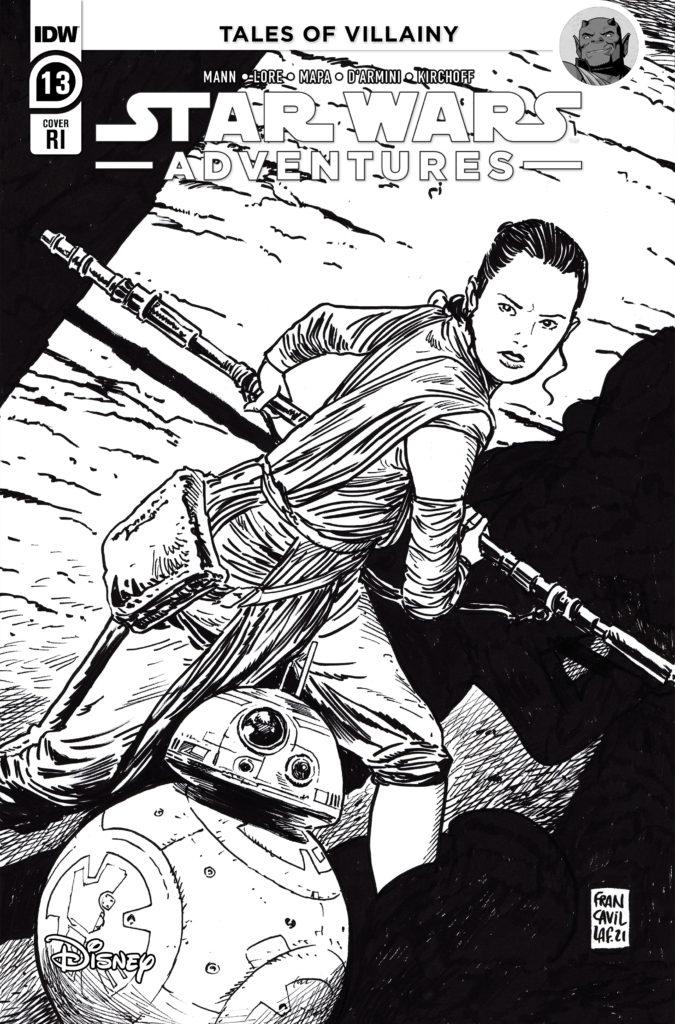 Star Wars Adventures #13 (Francesco Francavilla Black & White Variant Cover) (22.11.2021)